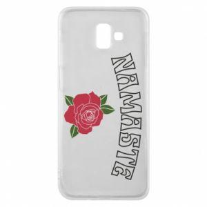 Phone case for Samsung J6 Plus 2018 Namaste rose
