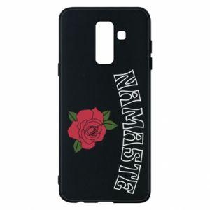 Phone case for Samsung A6+ 2018 Namaste rose