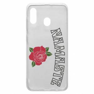 Phone case for Samsung A30 Namaste rose