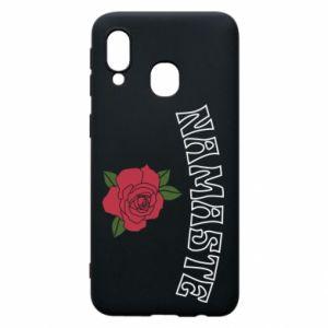 Phone case for Samsung A40 Namaste rose