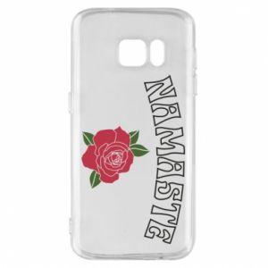 Phone case for Samsung S7 Namaste rose