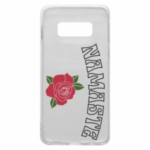 Phone case for Samsung S10e Namaste rose