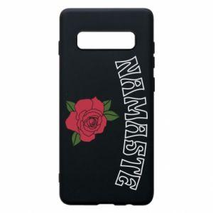 Phone case for Samsung S10+ Namaste rose