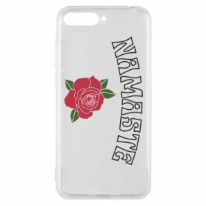Phone case for Huawei Y6 2018 Namaste rose