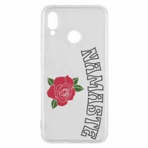 Phone case for Huawei P20 Lite Namaste rose