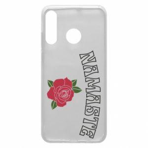 Phone case for Huawei P30 Lite Namaste rose