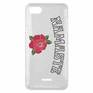 Phone case for Xiaomi Redmi 6A Namaste rose