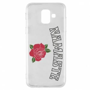 Phone case for Samsung A6 2018 Namaste rose