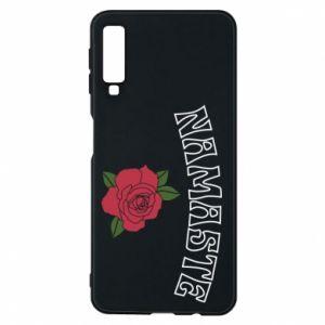 Phone case for Samsung A7 2018 Namaste rose