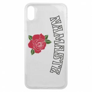Phone case for iPhone Xs Max Namaste rose