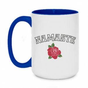 Two-toned mug 450ml Namaste rose