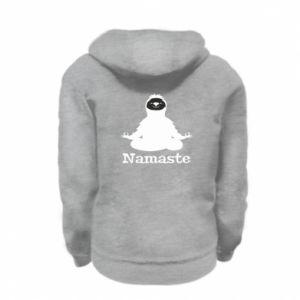 Kid's zipped hoodie % print% Namaste