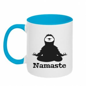 Two-toned mug Namaste