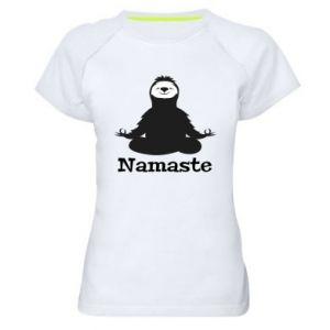 Women's sports t-shirt Namaste