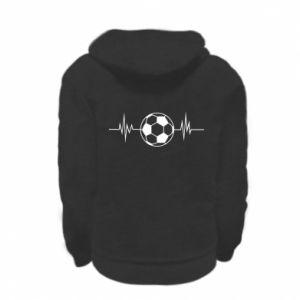 Kid's zipped hoodie % print% Namiętna piłka nożna