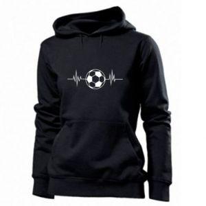 Women's hoodies Namiętna piłka nożna