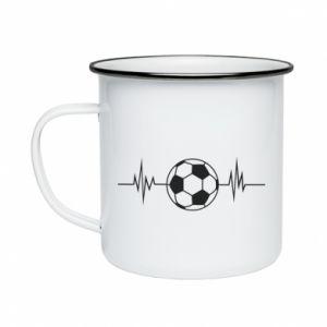 Enameled mug Namiętna piłka nożna