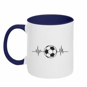 Two-toned mug Namiętna piłka nożna