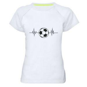 Women's sports t-shirt Namiętna piłka nożna