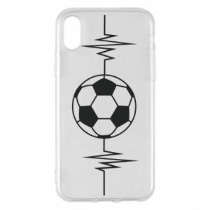 Phone case for iPhone X/Xs Namiętna piłka nożna