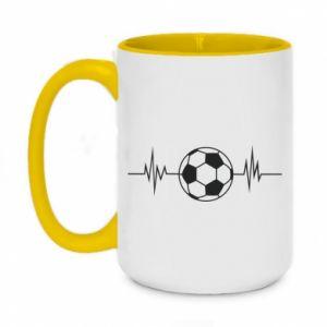 Two-toned mug 450ml Namiętna piłka nożna
