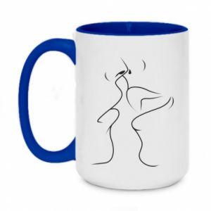 Two-toned mug 450ml A passionate kiss