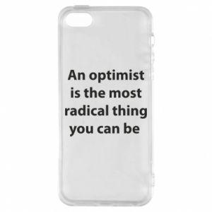 Etui na iPhone 5/5S/SE Napis: An optimist