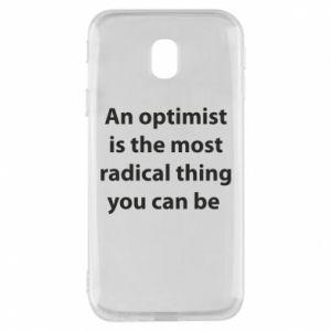 Etui na Samsung J3 2017 Napis: An optimist