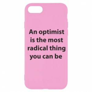 Etui na iPhone SE 2020 Napis: An optimist
