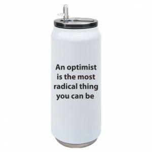 Puszka termiczna Napis: An optimist