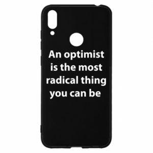 Etui na Huawei Y7 2019 Napis: An optimist