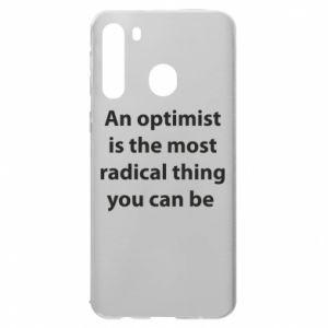 Etui na Samsung A21 Napis: An optimist