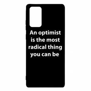 Etui na Samsung Note 20 Napis: An optimist
