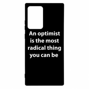 Samsung Note 20 Ultra Case Inscription: An optimist