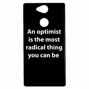 Etui na Sony Xperia XA2 Napis: An optimist