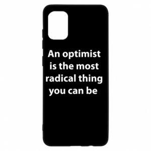 Etui na Samsung A31 Napis: An optimist