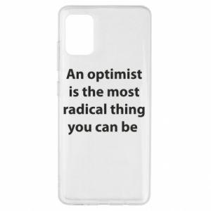 Etui na Samsung A51 Napis: An optimist