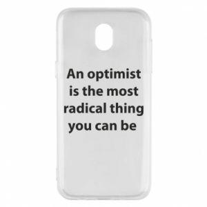 Etui na Samsung J5 2017 Napis: An optimist