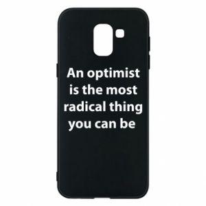 Etui na Samsung J6 Napis: An optimist