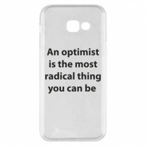 Etui na Samsung A5 2017 Napis: An optimist