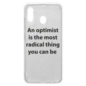 Etui na Samsung A30 Napis: An optimist