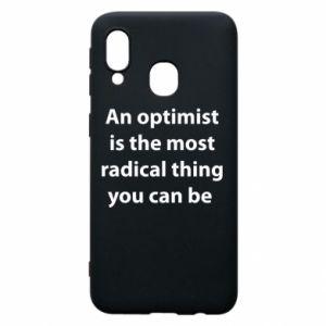 Etui na Samsung A40 Napis: An optimist