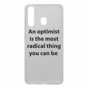 Etui na Samsung A60 Napis: An optimist