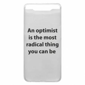 Etui na Samsung A80 Napis: An optimist
