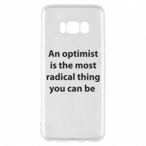 Etui na Samsung S8 Napis: An optimist