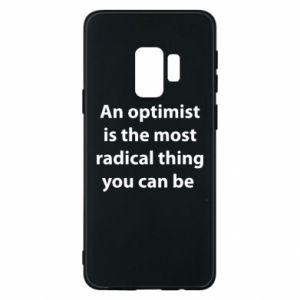 Etui na Samsung S9 Napis: An optimist