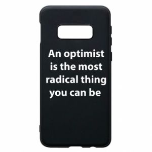 Etui na Samsung S10e Napis: An optimist