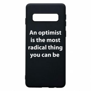 Etui na Samsung S10 Napis: An optimist