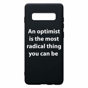 Samsung S10+ Case Inscription: An optimist