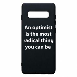 Etui na Samsung S10+ Napis: An optimist